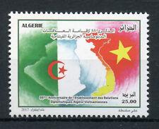 Algeria 2017 MNH Diplomatic Relations Vietnam 1v Set Flags Ntl Emblems Stamps