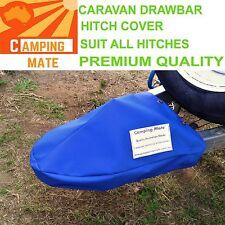 Caravan drawbar tow hitch cover camper trailer PREMIUM blue,black