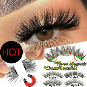 Reusable Magnetic Eyelashes Natural 3D Mink Long Makeup Natural False Eye Lashes