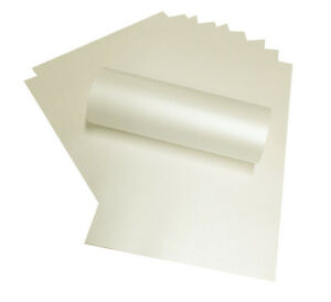 20 A4 IVORY PAPER PEREGRINA MAJESTIC PEARLISED/SHIMMER BOTH SIDES 120SM