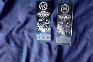 WWE Jakks Classic Superstars Wrestlemania MOCK tickets 22 (1 ticket only)