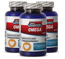 Omega 3 Fish Oil - Fish Oil Omega-3-6-9 3000mg - Brain SuperFood  Supplement  3B