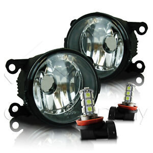 For Grand Vitara & SX4 Replacement Fog Lights w/LED Bulbs - Clear