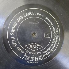 "12"" 78 PATHE 5317 ST HILDA COLLIERY BAND with sword & lance / queen of the west"