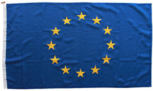 EU Europe Union flag MoD approved traditional sewn 5x3ft embroidery stars woven