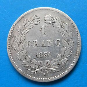 Louis-Philippe 1 franc 1834 L BAYONNE cote TB 400€
