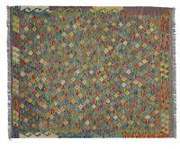 6'5 x 5'4 Handmade Afghan Kilim Area Rug Oriental Wool Kelim Tapis Carpet #8211
