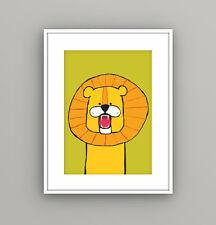 Nursery Kids Childrens Bedroom Safari Animal Lion Wall Art Picture A4 Print
