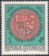 Austria 1990  Mining University/Seal/Coal/Tools/Lamp/Minerals/School 1v at1096a