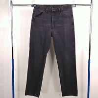 Rustler Straight Leg Denim Black Jeans Mens Tag Size 35x32 - Fits 34x32