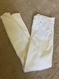 Spanx Skinny White Jeans XS