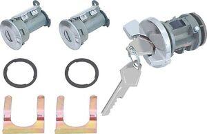 Ignition & Door Lock Set 1972-85 w/o tilt Charger Dart CUDA non mopar logo KEY