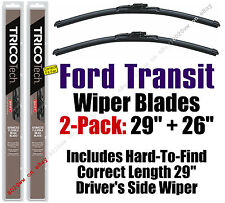 """Fits 2015-16 Ford Transit Wipers 2pk w/Correct Length 29"""" Drivers Side 19290/210"""