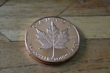 1 oz MAPLE LEAF Copper Coin .999 Bullion Round