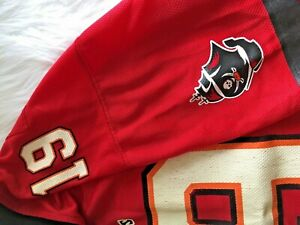 Reebok TAMPA BAY BUCCANEERS JOHNSON Jersey Red YOUTH LG Large #19 NFL Football