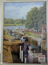 Waddingtons Jigsaw Puzzle 350 pc Goring Lock Thames England 1988 Sealed 15x11in