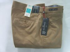 "bnwt M & S blue harbour super lightweight flat front chino in dark sand w 34""/33"