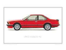 BMW M635CSi M6 Limited Edition Classic Car Print Poster by Steve Dunn
