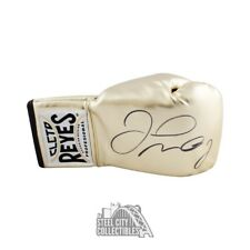 Floyd Mayweather Autographed Cleto Reyes Gold Boxing Glove - BAS COA