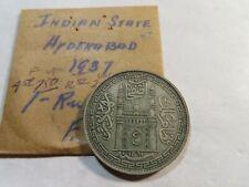 I1 India Hyderabad 1937 Rupee
