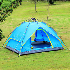 Double layers Automatic Outdoor Instant Camping Hiking Family Pop Up Tent SALE