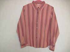 Talbots Womens Top Size 14 Petites Wrinkle Resistant Button Down 100% Cotton
