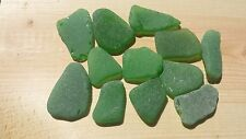 """Sea Glass - 12 Large pieces of """"Craft Quality"""" Green"""