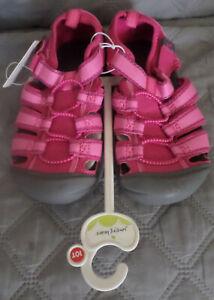 NIP Jumping Beans Bump Toe Sport Sandals Pink 10 TODDLER