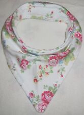 Bandanna Dribble Bib made with Cath Kidston Spray on White material