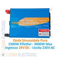 Inverter Professionale 1500W Onda Sinusoidale Pura Ingresso 24V Uscita 220-230V