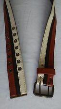 Vintage Cream/Brown/Cognac Men's Belt