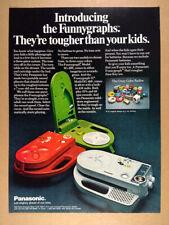 1972 Panasonic Funnygraph Record Players vintage print Ad