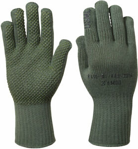 Olive Drab Manzella USMC TS-40 Genuine GI Military Gloves USA Made with NSN