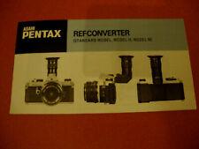 ASAHI PENTAX REFCONVERTER MODEL STANDARD - II ET MODEL M BROCHURE Appareil photo