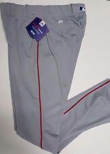 GREY RED AUTHENTIC MAJESTIC BASEBALL PANTS 32-42 WAIST 37 INSEAM FLEX BASE