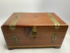 New ListingPeterson Brothers Wood Jewelry Trinket Dresser Box Approximately 10� x 6-1/8�