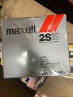 """Maxell 2S Double Sided Double Density 5 1/4"""" 5.25 floppy disks New Sealed 10 Box"""