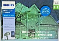 Philips Indoor/Outdoor Motion Laser Projector P1 Twinkling Green Lights Remote