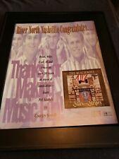 The Beach Boys Stars And Stripes Rare Original Promo Poster Ad Framed!