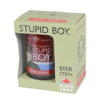 Dad's Army Stupid Boy Glass Beer Stein Tankard & Gift Box Christmas Gift Him