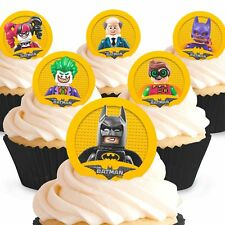 Cakeshop 12 x PRE-CUT The Lego Batman Movie Edible Cake Toppers