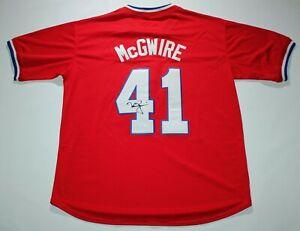 Mark McGwire #41 Autographed MLB Team USA Oak Athletics Baseball Jersey JSA COA