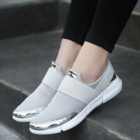Women's New Running Slip On Sneakers Trainer Shoes Casual Sports Breathable