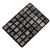 Nail Art Timbro Stencil Timbratura Guida Placca Set Accessori Stampa Unghie