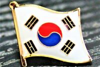 SOUTH KOREA South Korean Metal Flag Lapel Pin Badge *NEW*