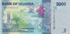 2000 SHILLINGS VERY FINE BANKNOTE FROM UGANDA 2010 PICK-50