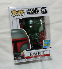 Star Wars Boba Fett Green Chrome SDCC 2019 Funko #297 Pop! Vinyl Figure New