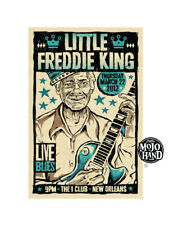 Original Little Freddie King Blues concert poster Mojohand - free US Shipping!