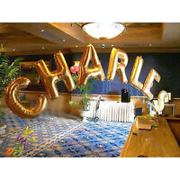"40""Large Letter Number Balloon Float Helium Alphabet Silver Gold Pink graduation"