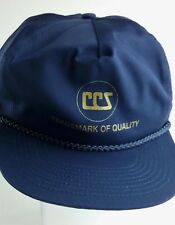 CCS Cap Carter Cryogenic Services Dark Blue Flat Bill Hat Snapback NEW